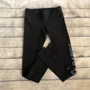 NWOT Pure Barre Black Leggings with Logo Size S
